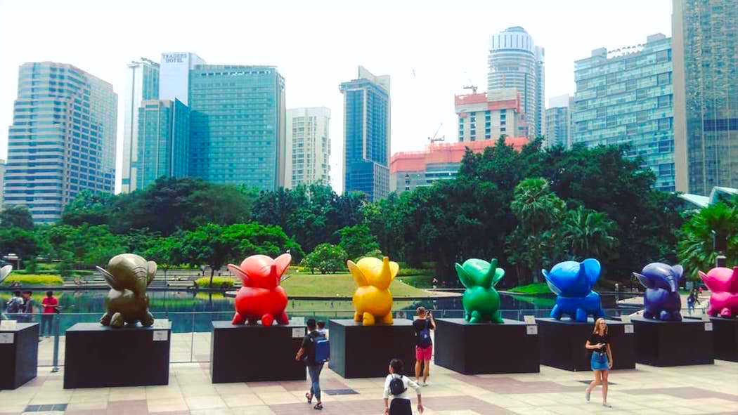 Colourful Elephants @ KLCC Park