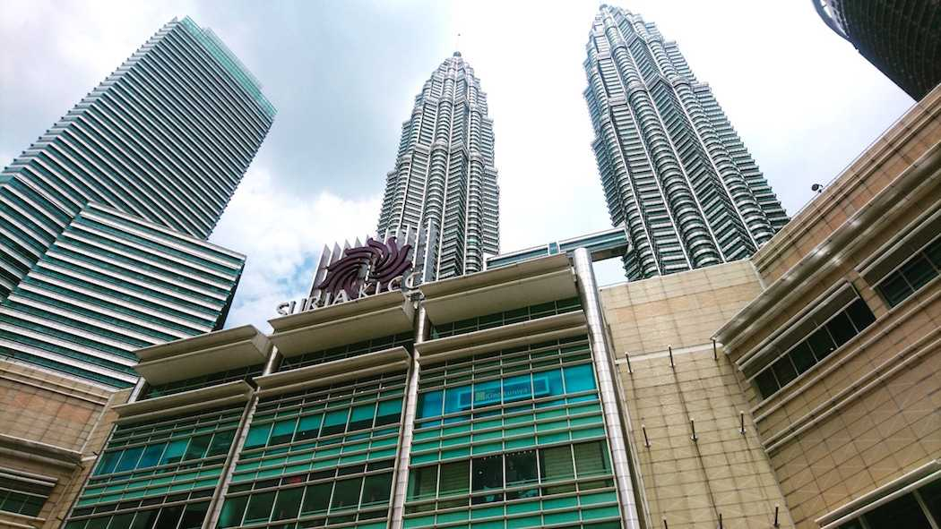 Back Entrance of Suria KLCC Shopping Mall and Petronas Twin Towers