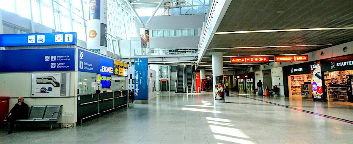 Kantor Exchange at Arrival Hall @ Warsaw Chopin Airport, Poland