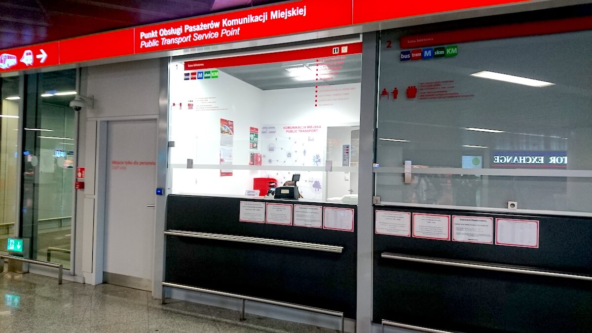 Public Transport Service Point @ Warsaw Chopin Airport