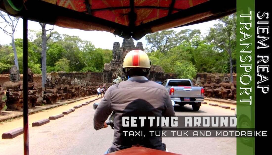 Getting from Siem Reap Airport to City and Angkor Wat: Taxi, Tuk Tuk and Motorbike