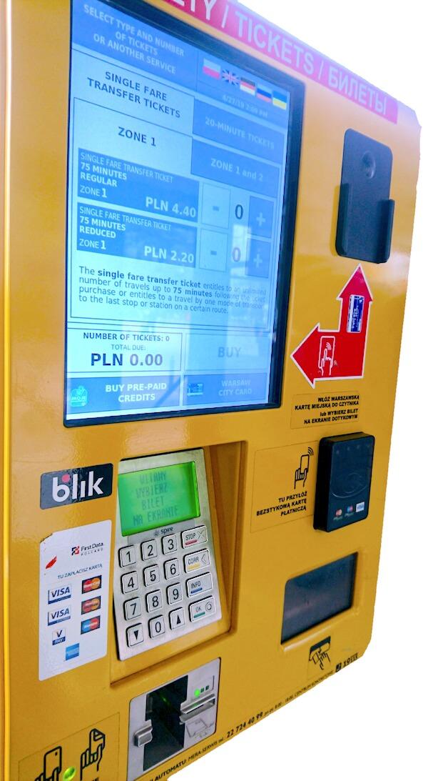 Ticket Machine inside Warsaw Bus 175