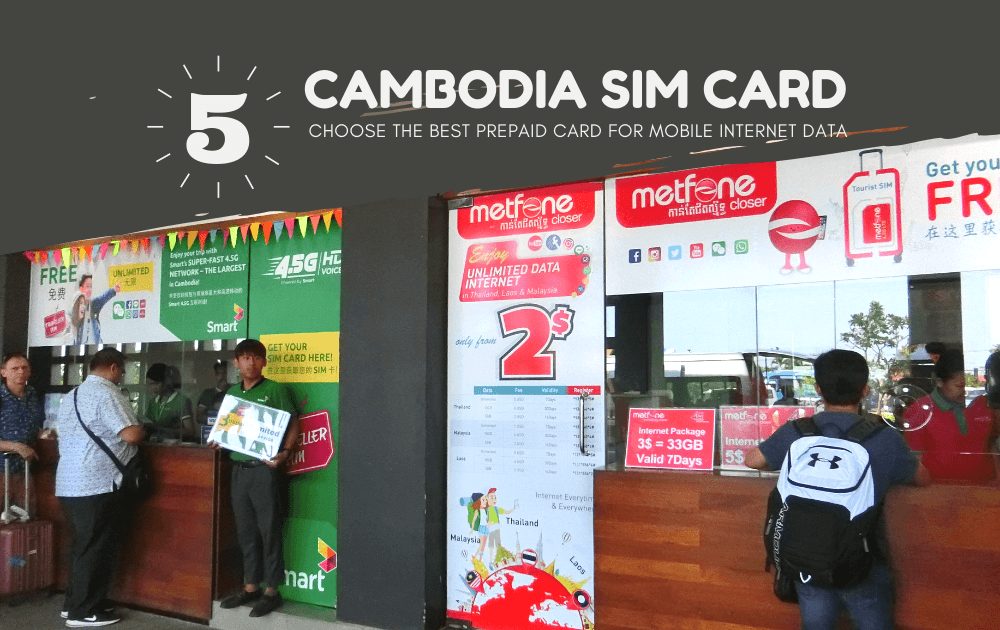 Cambodia Tourist Sim Card Prepaid Mobile Internet Data for Travel