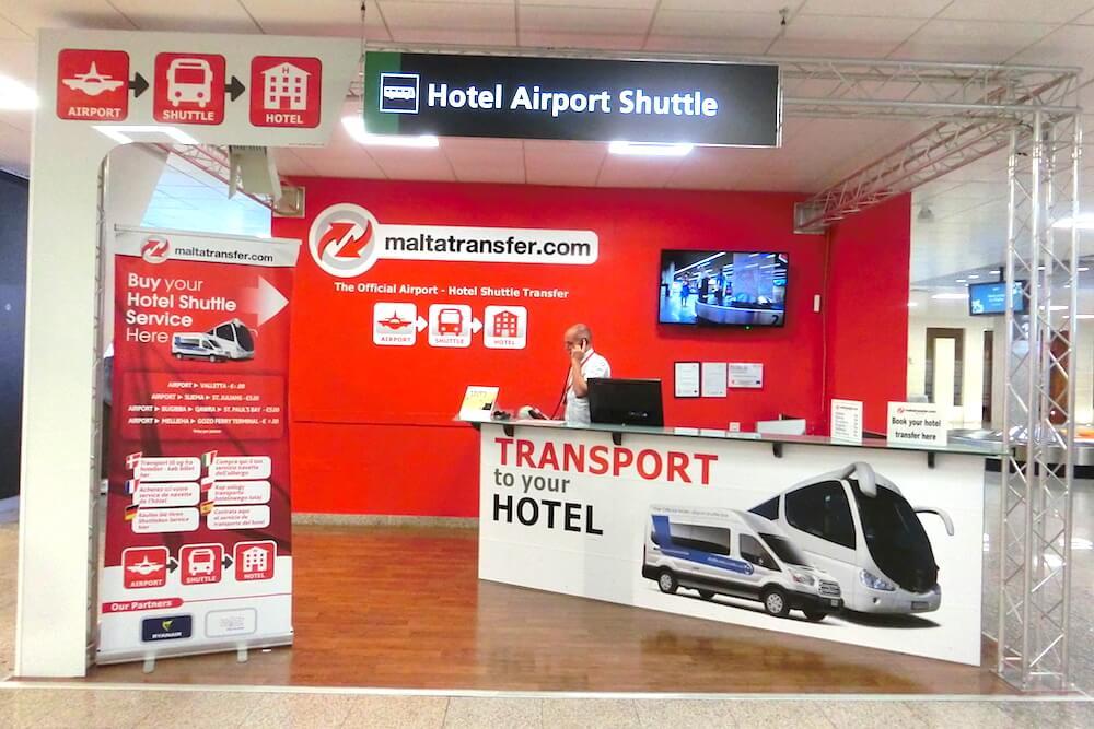 Malta Hotel Airport Shuttle @ Baggage Reclaim Area