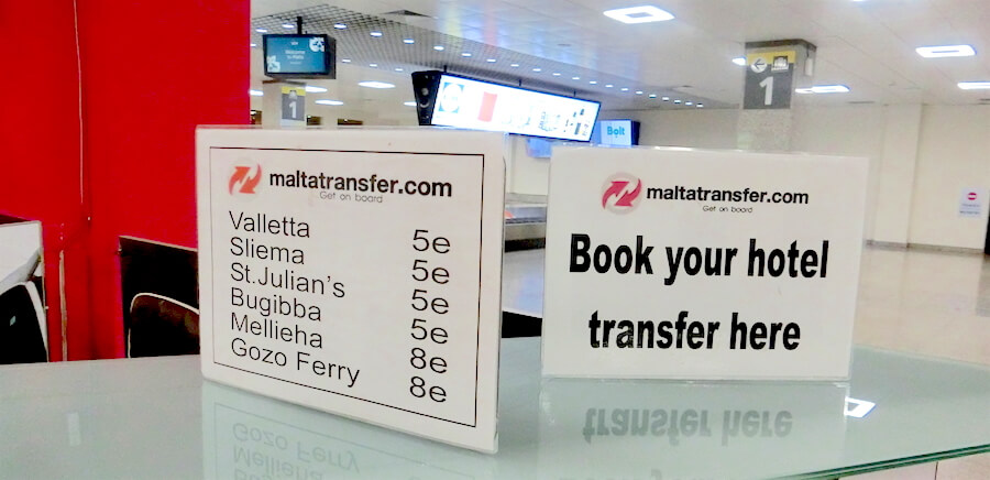 Malta Shared Shuttle Bus @ Baggage Reclaim Area