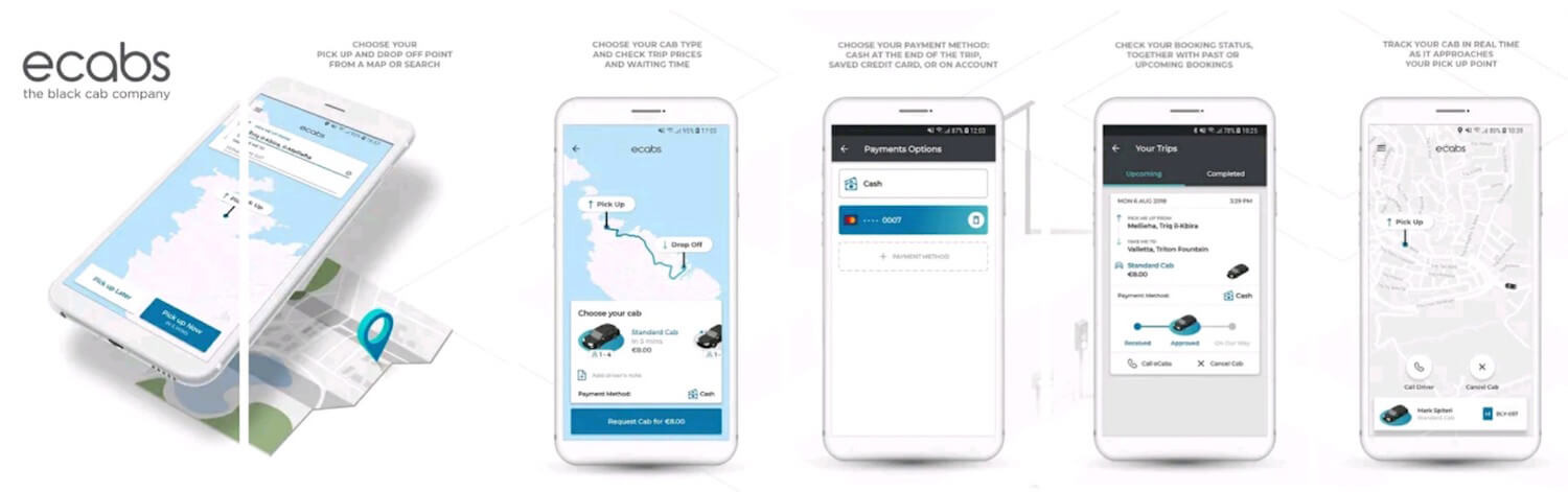 eCabs Malta Transport App