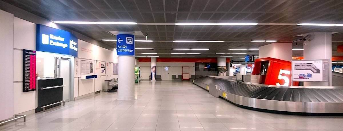 Kantor Exchange at Baggage Reclaim Area, Belt 5 @ Warsaw Chopin Airport, Poland