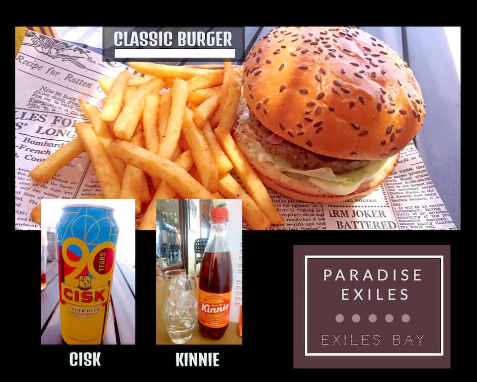 Paradise Exiles Beach Bar Food
