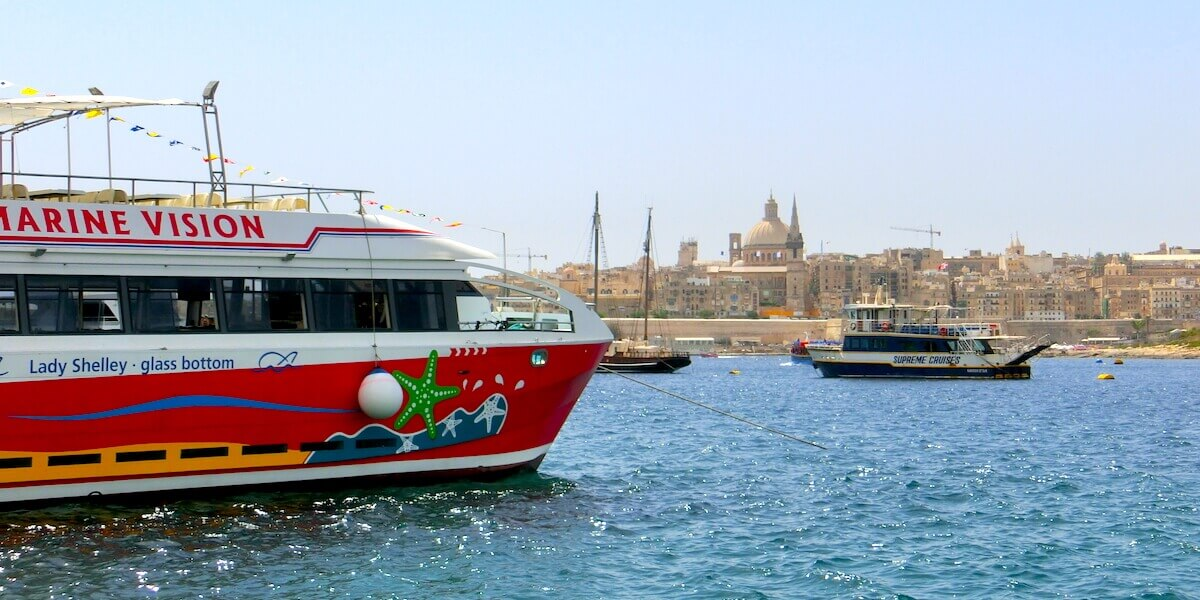 St. Paul Co-Cathedral @ Valletta from Sliema » Valletta Ferry Route