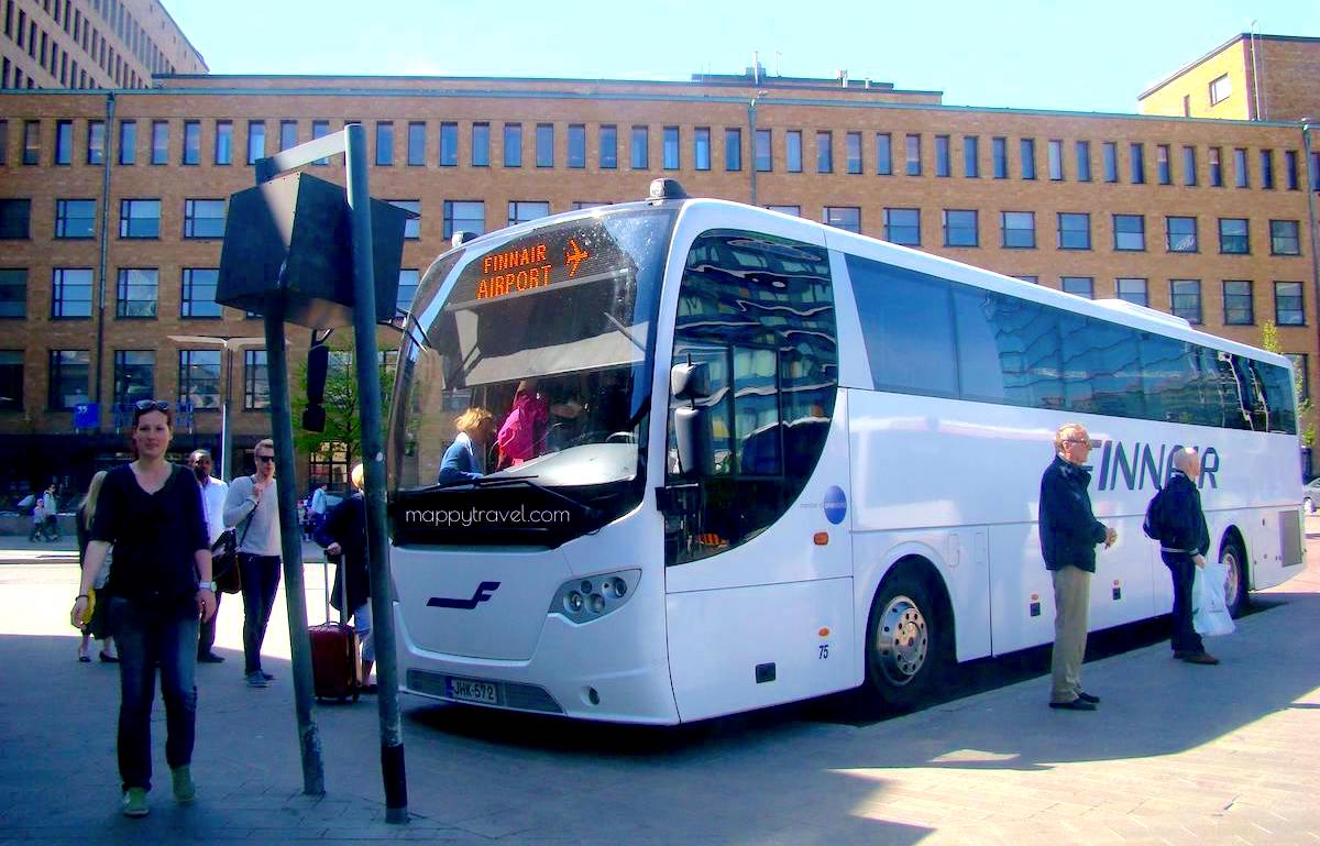 Finnair City Bus operated by Pohjolan Liikenne