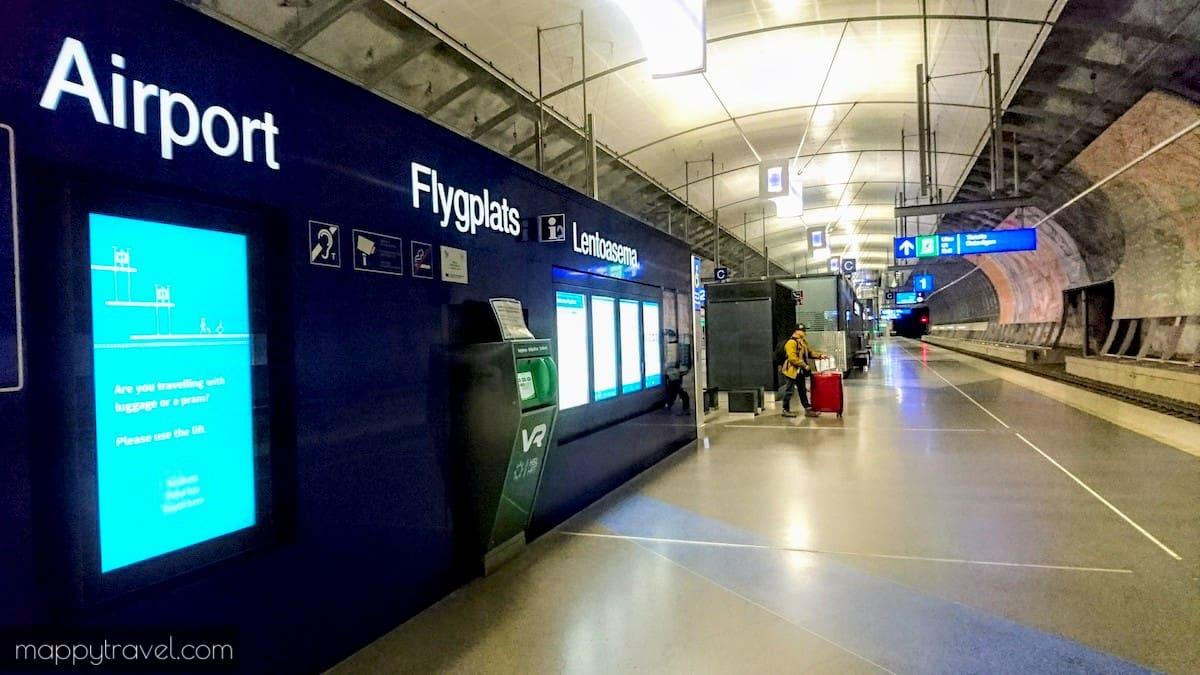 Helsinki Airport Train Station Underground Ticket Machine