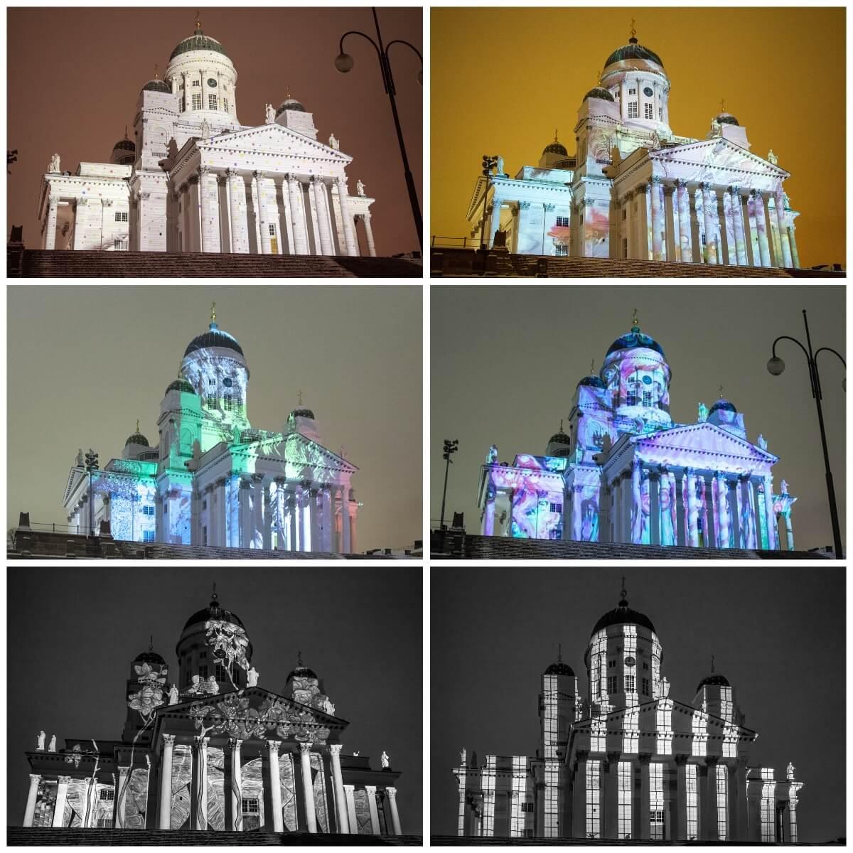 Helsinki Cathedral - Lux Helsinki Light Festival