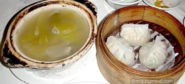 Pork Stomach Soup with Pepper & Salted Vegetable   胡椒咸菜猪肚汤 and Steamed Prawn Dumpling   水晶鲜虾饺