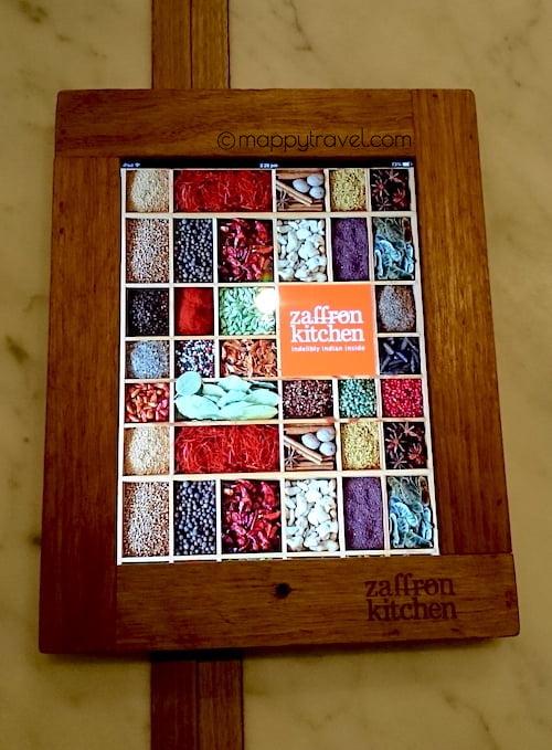 Zaffron Kitchen Electronic Menu