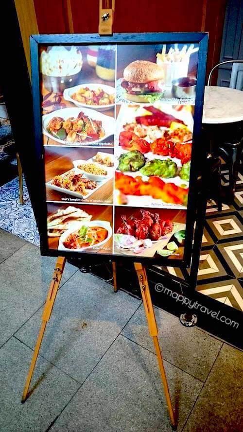 Zaffron Kitchen Menu Signboard