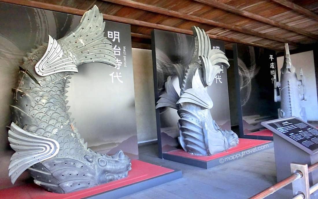 Shachihoko aka Sachi is a killer whale in Japanese folklore @ Himeji Castle