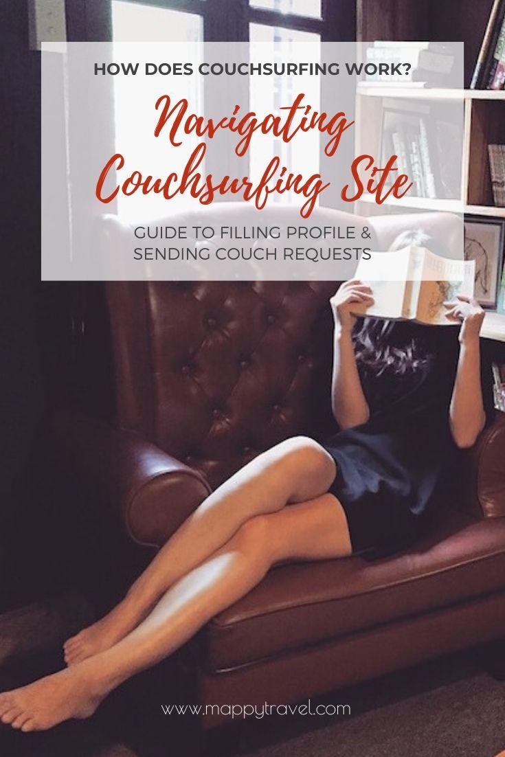 Navigating Couchsurfing Website Profile (Pinterest)