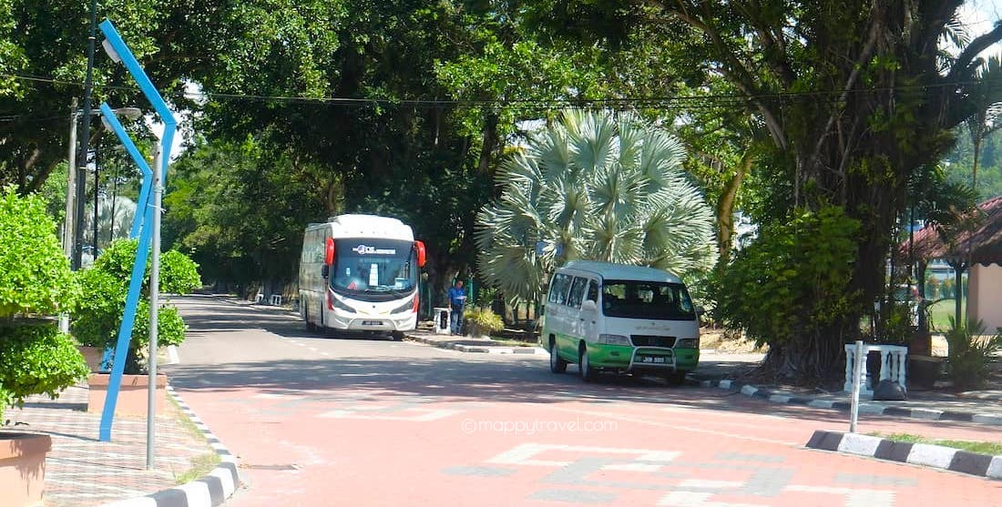 Parking Position of the Coach in Mersing
